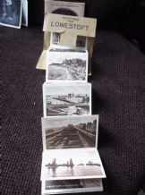 12 MINI REAL PHOTOGRAPHS ENVELOPE GREETINGS FROM LOWESTOFT BLACK & WHITE